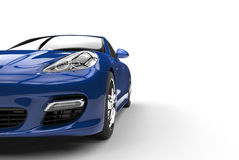Blue Car Front View Royalty Free Stock Image
