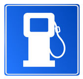 Blue car fuel signal, vector Stock Photography