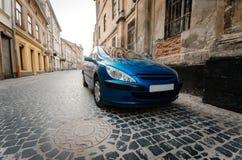 Blue car Stock Photo