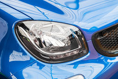 Blue Car Head Light Royalty Free Stock Image