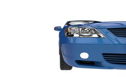 Blue Car Headlight Royalty Free Stock Photography