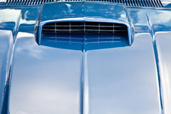 Blue Car hood with Blower Stock Images