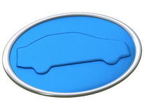 Blue car icon 3d Royalty Free Stock Photos