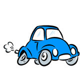 blue car illustration Royalty Free Stock Images