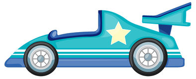 Blue car. Illustration of a blue car on white background Stock Photography
