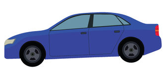 Blue Car. The blue car illustration on a white background