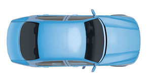 Blue car Royalty Free Stock Images
