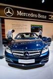 Blue car Mersedes CL 500 Stock Photo