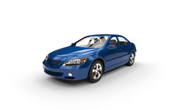 Blue Car Perspective shot Royalty Free Stock Image