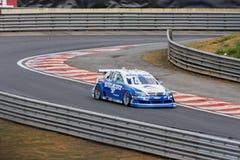 blue car popo racing stock Στοκ φωτογραφίες με δικαίωμα ελεύθερης χρήσης