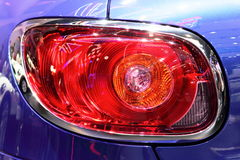 Blue car rear tail lights Royalty Free Stock Image