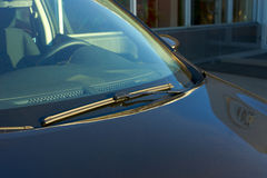 The blue car rear wipers Royalty Free Stock Photo