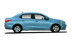 Blue car side view Stock Photo
