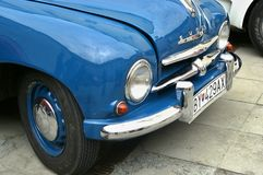 Blue car SKODA Royalty Free Stock Photo