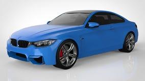 blue car sports τρισδιάστατη απόδοση Στοκ εικόνες με δικαίωμα ελεύθερης χρήσης
