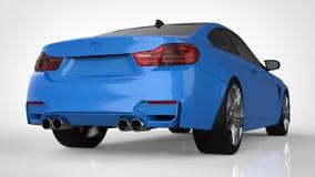 blue car sports τρισδιάστατη απόδοση Στοκ φωτογραφία με δικαίωμα ελεύθερης χρήσης