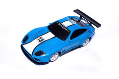 Blue car toy Royalty Free Stock Photo