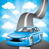 Blue car. Royalty Free Stock Photography