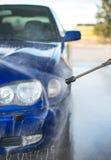 Blue car wash. Royalty Free Stock Photos