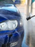 Blue car wash. Stock Images