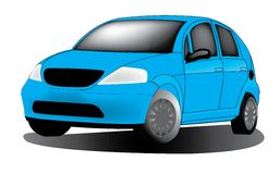 Car. Blue car on white background Royalty Free Stock Photography