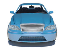 Blue car on white Stock Photography