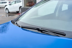 Blue car wipers Stock Photo