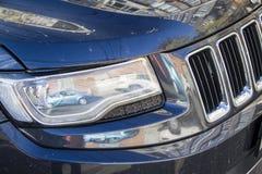 Blue car xenon headlight Stock Images