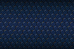 Blue carbon fiber hexagon pattern. Background and texture. 3d illustration Royalty Free Stock Photo