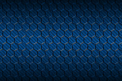 Blue carbon fiber hexagon pattern. Stock Photo