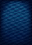 Blue carbon-style background. With red thread stitching Royalty Free Stock Photography