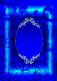 Blue card. Fantastic holiday card or sign abstract Royalty Free Stock Photos