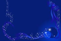 blue card christmas Στοκ Φωτογραφίες
