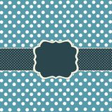 Blue card with dots Royalty Free Stock Photography
