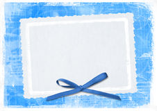 Blue card for greeting in style retro royalty free illustration