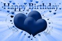 Blue Card Happy Birthday Stock Image