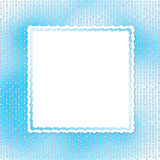 Blue card for invitation with pearls Stock Image
