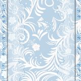 Blue card with lace Royalty Free Stock Photos