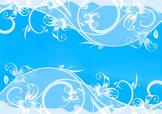 Blue card with pattern. Royalty Free Stock Images