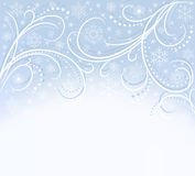 Blue card with snowflakes. Blue card with white snowflakes Stock Photos
