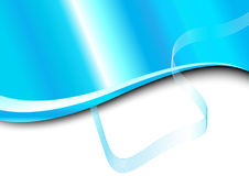 Blue card with wave Royalty Free Stock Image