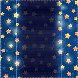 Blue Card with Yellow Stars in Sky Royalty Free Stock Photo