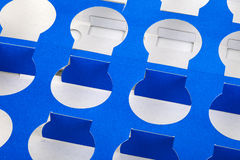 Blue cardboard background. Close up of a blue cardboard background (this is a wrapping box from joghurt cups Royalty Free Stock Photo