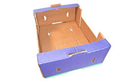 Blue cardboard box Stock Photography
