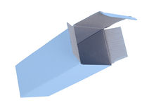Blue cardboard box Royalty Free Stock Image