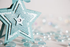 Blue cardstock Chistmas star Stock Photo