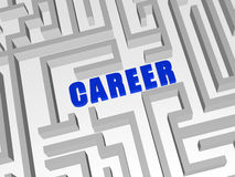 Blue Career In Labyrinth Stock Photography