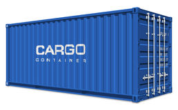 Blue cargo container Stock Photos