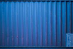 Blue Cargo container. A blue Cargo container with natural light Royalty Free Stock Photo