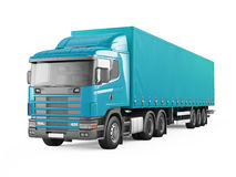 Blue cargo delivery truck. Royalty Free Stock Photography